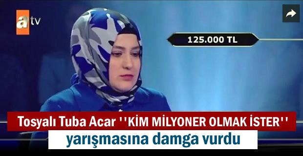 ''KİM MİLYONER OLMAK İSTER'' YARIŞMASINA TOSYALI HEMŞERİMİZ DAMGA VURDU