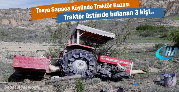 Sapaca Köyünde Traktör Kazası