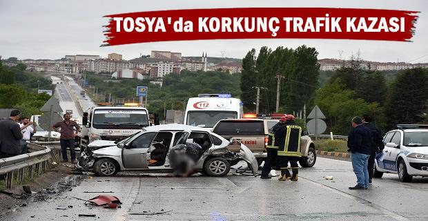TOSYA'DA KORKUNÇ TRAFİK KAZASI