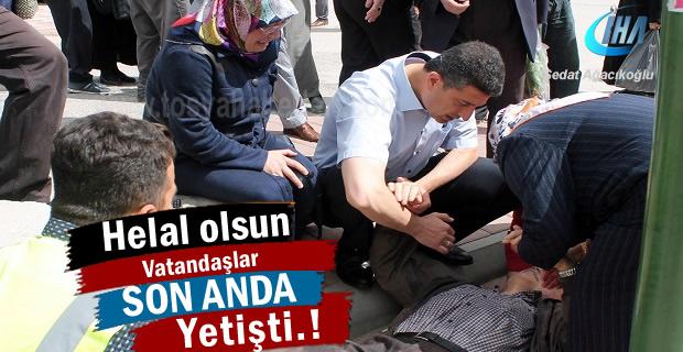 Tosya 'da Vatandaşlar Yaşlı Adamın hayatını kurtardı