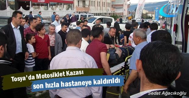 Tosya Hastane Kavşağında Motosiklet Kazası
