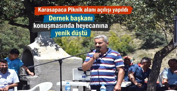 Karasapaca Köyü Piknik alanı Açılışı yapıldı