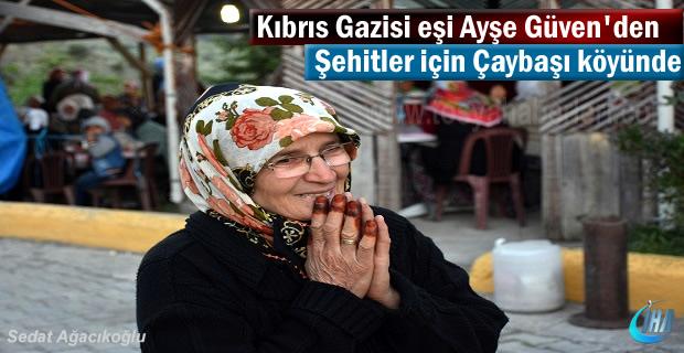 Tosya Çaybaşı Köyünde Kıbrıs Gazisi Eşi Ayşe Güven'den örnek davranış