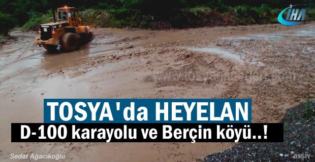 Tosya'da Heyelan Meydana Geldi ( Son Dakika )