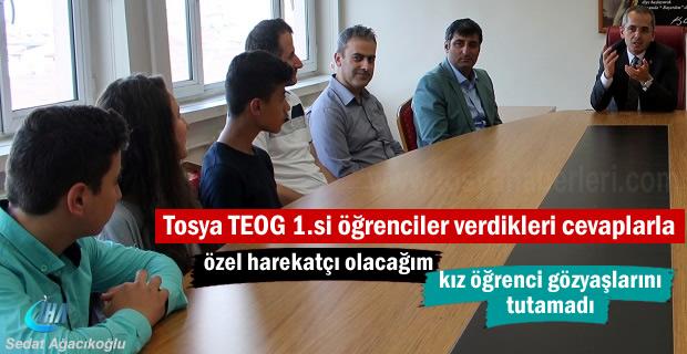 Tosya'da TEOG sınavında 8 öğrenci Türkiye Birincisi oldu
