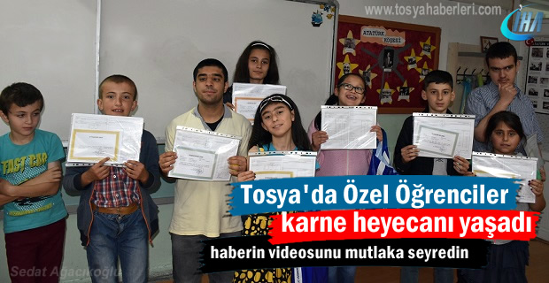 Tosya'da Özel Öğrenciler Tatil ve Karne heyecanı yaşadı