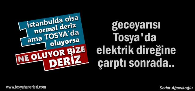 Tosya'da gece yarısı yaşanan ilginç olay