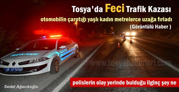 Tosya'da otomobilin çarptığı yaşlı kadın öldü