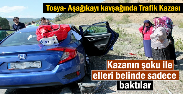 Tosya - Aşağıkayı Köyü Kavşağında Trafik Kazası