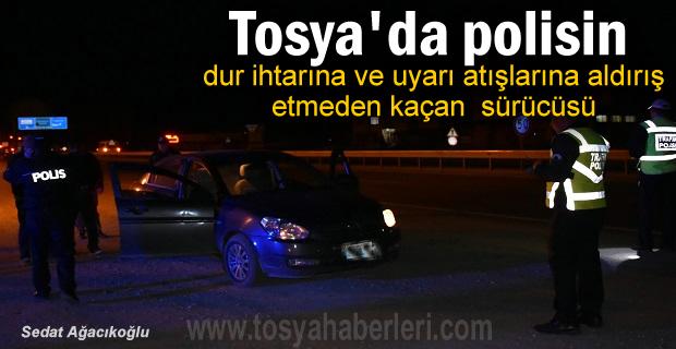 Tosya'da Polisin Dur ihtarına uymayan kişi kapan ile yakalandı
