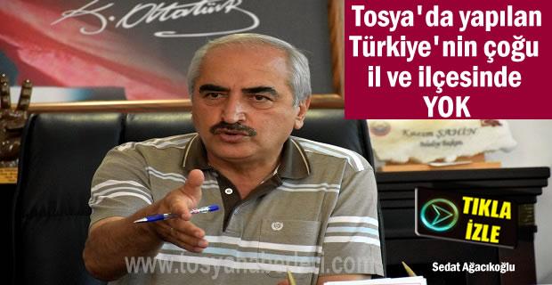 Tosya'daki bu sistem Türkiye'de çoğu İl ve İlçede Yok