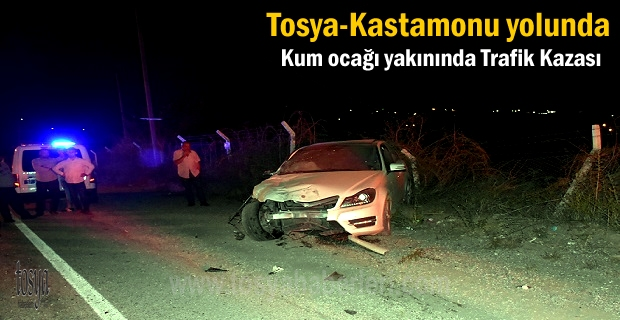 Tosya-Kastamonu yolunda Trafik Kazasında 3 kişi yaralandı