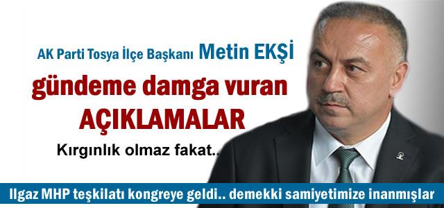 AK Parti İlçe Başkanı Metin Ekşi Gazetecilerin sorularını cevapladı