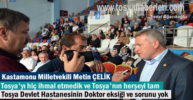 Metin Çelik Ak PArti Tosya Kongresinde açıklamalarda bulundu