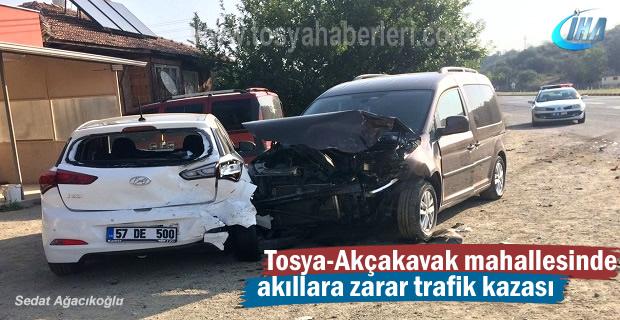 Tosya-Akçakavak Mahallesinde Trafik Kazası