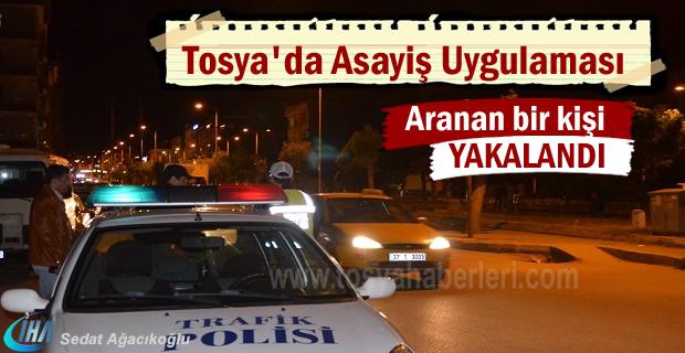 Tosya'da Asayiş Uygulamasında aranan şahıs yakalandı