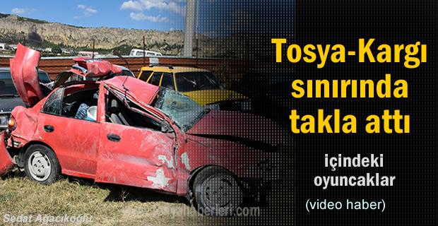 Tosya'da meydana gelen Trafik Kazasında 1 kişi ağır yaralandı