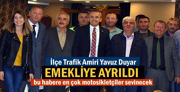 Tosya ilçe Trafik Amiri Yavuz Duyar Emekli oldu