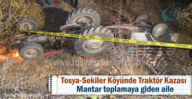 Tosya Sekiler köyünde Traktör Kazası 1 kişi hayatını kaybetti