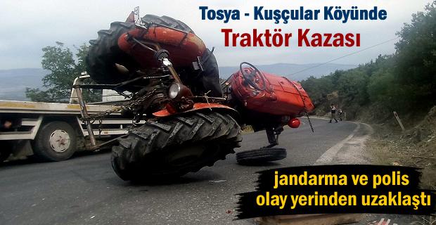 Tosya'da Traktör Kazası 1 kişi yaralandı