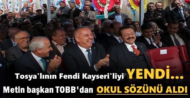TOBB Başkanın Rifat Hisarcıklıoğlu'ndan Tosya'ya Okul Sözü