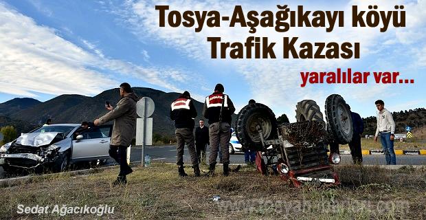Tosya - Aşağıkayı Köyü kavşağı Korkunç Trafik Kazası