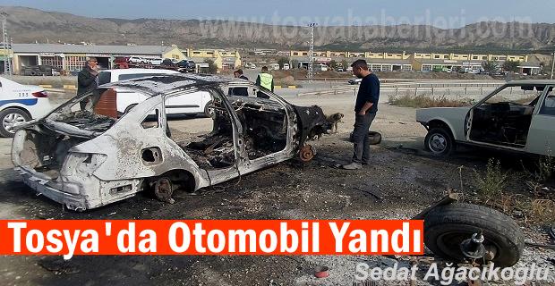 Tosya'da Hurda Araç Yandı