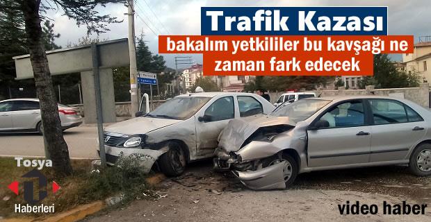 Tosya'da Meydana gelen Trafik kazasında 3 kişi yaralandı