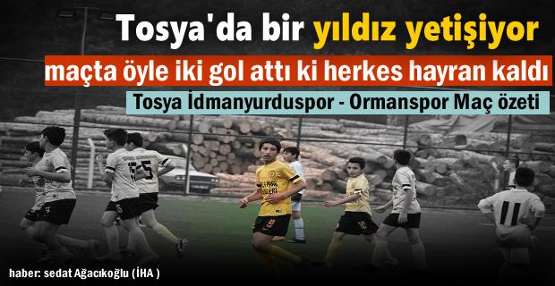 Tosya U14 futbolda bir yıldız yetişiyor
