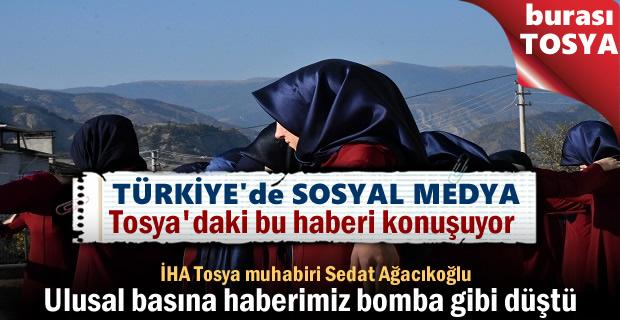 TOSYA'DAKİ BU GÖRÜNTÜLER ULUSAL BASINDA BOMBA ETKİSİ YAPTI