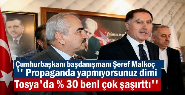 Cumhurbaşkanı Baş danışmanı ve Kamu Baş Denetçisi Şeref Malkoç Tosya'yı Ziyaret Etti