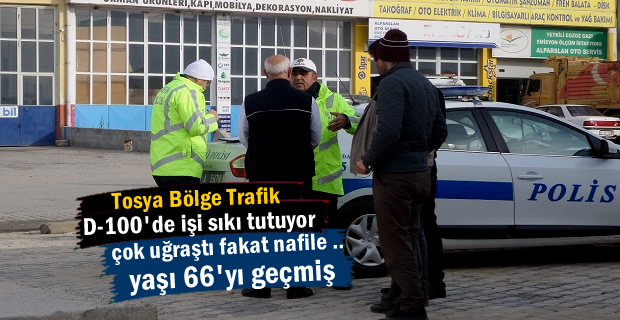 Tosya Bölge Trafik 66 yaşındaki Sürücüyü Trafikden Men etti