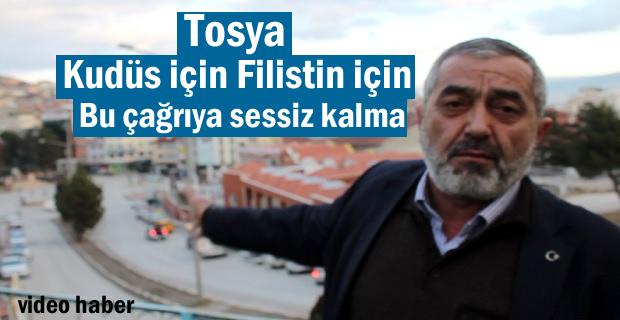 Tosya'da yarın Amerika ve İsrail'i Protesto etmek için Miting Düzenleniyor
