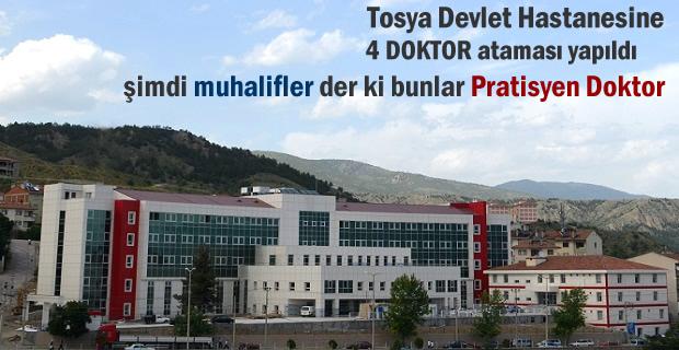 Tosya Devlet Hastanesine atanan 4 Doktor hasta kabulüne başladı
