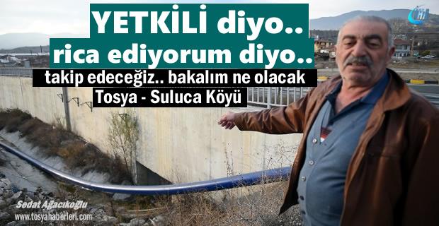 Tosya'da vatandaşlar su borusunun şu anki durumuna isyan etti