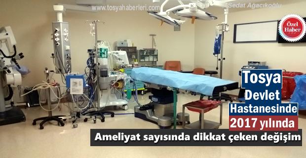 2017 YILINDA TOSYA DEVLET HASTANESİNDE KAÇ AMELİYAT YAPILDI