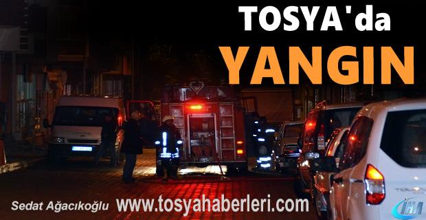 Tosya'da Yangın.. İtfaiye Olay yerinde