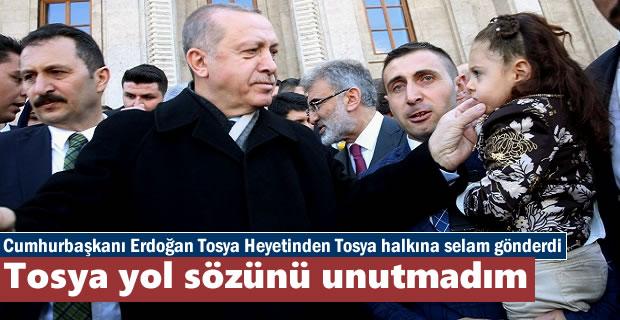 Cumhurbaşkanı Erdoğan'da Tosyaya Selam ''Tosya yolu yapılacak''