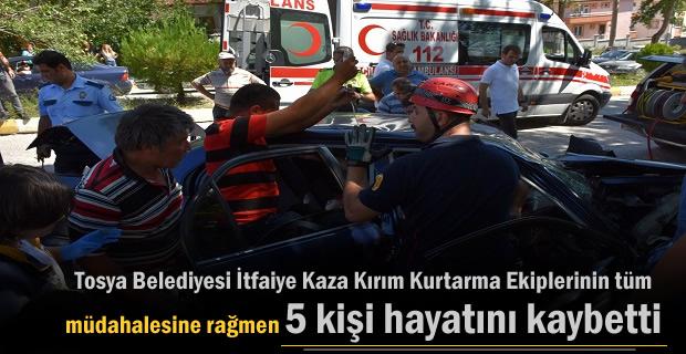 Tosya Kaza Kırım Kurtama 36 olaya müdahale etti.