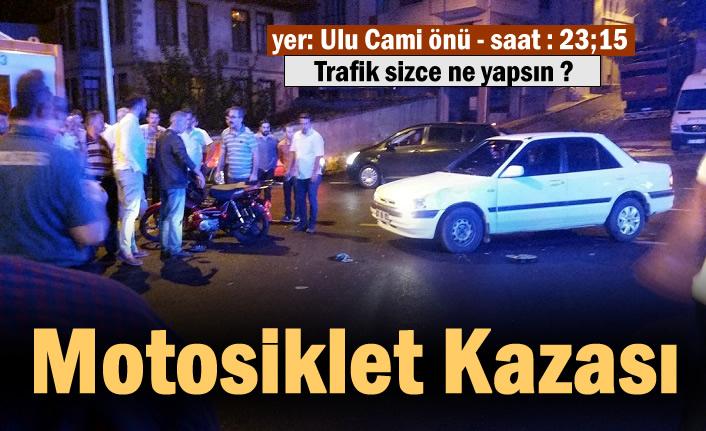 Tosya Ulu Cami Önünde Motosiklet Trafik Kazası