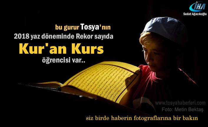 Tosya'da Yaz Kur'an Kurslarına Rekor Katılım