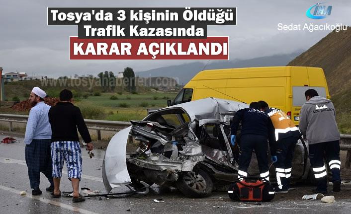 Tosya'da 19 Mayıs Tarihinde Trafik Kazası Mahkeme Kararı Açıkladı