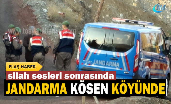 Tosya Kösen Köyünde Silah Sesleri sonrası Jandarma Olay Yerinde