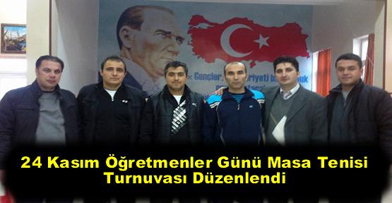 24 Kasım Öğretmenler Günü Masa Tenisi Turnuvası Düzenlendi