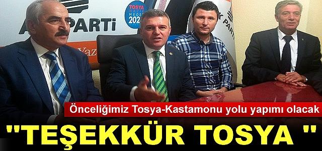 AK PARTİ MİLLETVEKİLİ METİN ÇELİK '' TEŞEKÜRLER TOSYA''