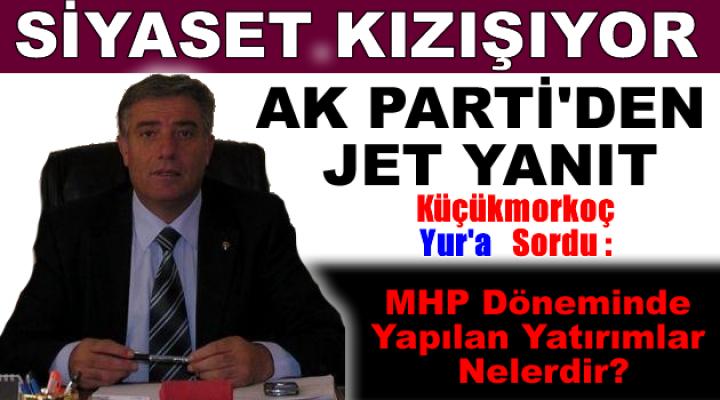 AK Parti Tosya İlçe Başkanı Sayın Naci Küçükmorkoç'un basın bildirisidir