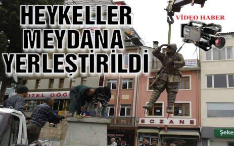 Atatürk Büstü ve Heykeller Tosya Cumhuriyet Meydanına Yerleştirildi