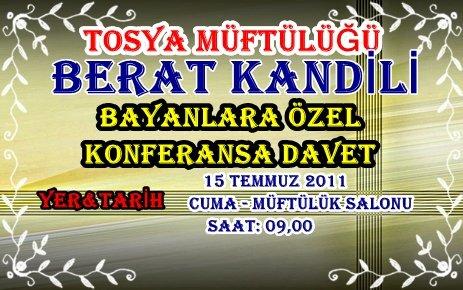 BERAT KANDİLİ BAYANLARA ÖZEL KONFERANS