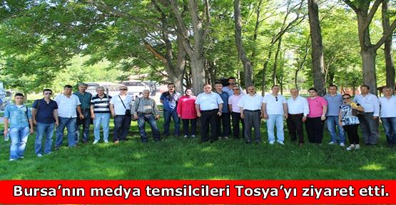 Bursa'nın medya temsilcileri Tosya'yı ziyaret etti.