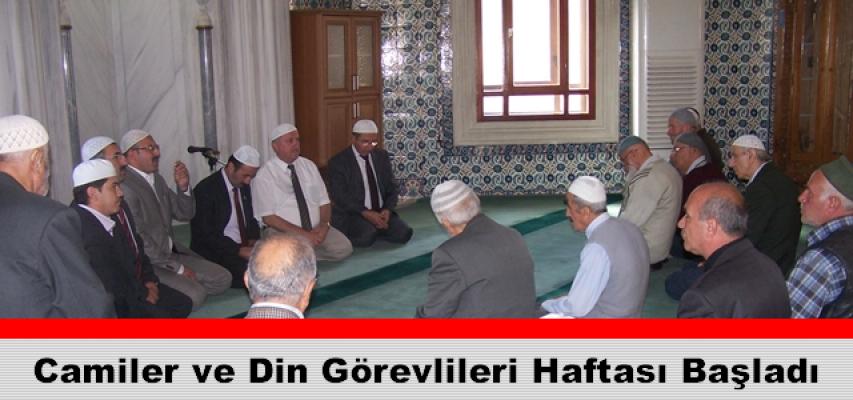 Tosya'da Camiler ve Din Görevlileri Haftası Başladı